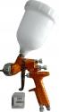 Краскопульт DeVilbiss Gti Pro, PROGTI-GHV30 в комплекте с двумя дюзами, d1,3 + d1,4mm