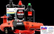 Электрическая полировальная машина FLEX + три любые полировальные пасты