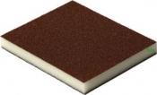 Двухсторонняя абразивная губка Flexifoam Red Soft Pad, 120x98x13мм, P60
