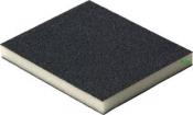 Двухсторонняя абразивная губка Flexifoam Soft Pad, 120x98x13мм, P80