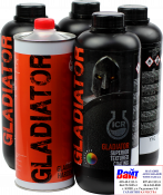 Gladiator 2К гладиатор акриловое защитное покрытие с характерным текстурированным эффектом, колорируемый (цветной), Tintable. Комплект 4 бутылки 750мл + бутылка 1л катализатор/отвердитель