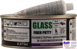 Купить Pyramid Шпатлевка полиэстерная со стекловолокном, (GLASS) светло-серая, 0,975кг. + отвердитель - Vait.ua