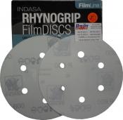 Абразивный диск INDASA RHYNOGRIP FILM LINE на пленке, D150mm, 6 отверстий, P500