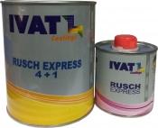 Грунт наполнитель акриловый быстросохнущий IKFL.A444 Rusch Express 4+1, 1л + 0,25отв, серый