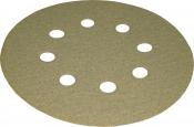 Абразивный диск для сухой шлифовки KAEF, диаметр 125 мм (8 отверстий), P60
