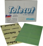 Абразивные листы KOVAX TOLECUT, 1/8 порезанные, P2500, зеленые