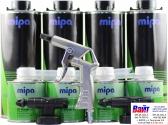Mipa Raptor Set Защитное покрытие со структурным эффектом на базе полиуретановых смол 2K (0,75 л + 0,25л), черное, в комплекте с пистолетом для нанесения и двумя распыляющими головками