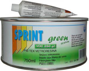 Купить Шпатлевка со стекловолокном TEX FIBERGLASS Sprint (цвет серый), 1,4 кг - Vait.ua