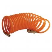 Шланг спиральный с быстроразъемным соединением INTERTOOL PT-1703, ПВХ, 5м