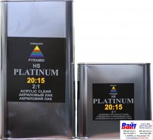 Купить 2К акриловый лак Pyramid PREMIUM  HS PLATINUM 20:15 (5л) + отвердитель (2,5л) - Vait.ua