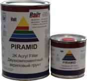 Грунт акриловый 5+1 PYRAMID (1л) с отвердителем (0,2л), темно-серый, 1,6кг