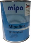 Однокомпонентная черная матовая краска Mipa RAL 9005 mat, 1л