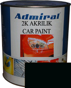 """RAL 9011 Акриловая 2К автоэмаль ADMIRAL """"Черный графитовый"""" в комплекте с отвердителем"""