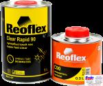 RX C-07 Clear Rapid 90, Reoflex, Двухкомпонентный супербыстрый акриловый лак (1,0л) в комплекте с отвердителем RX H-07 (0,5л)