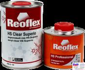 RX C-14 HS Clear Superio, Reoflex, Двухкомпонентный акриловый лак (1,0л) в комплекте с отвердителем RX H-66 (0,5л)