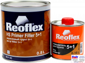 RX F-03 HS Primer Filler 5+1, Reoflex, Двухкомпонентный акриловый грунт-наполнитель 5+1, белый