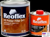 RX F-03 HS Primer Filler 5+1, Reoflex, Двухкомпонентный акриловый грунт-наполнитель 5+1, серый