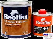 RX F-06 HS Primer Filler 4+1, Reoflex, Двухкомпонентный акриловый грунт-выравниватель 4+1, красный