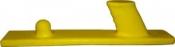 Рубанок гибкий мягкий AirPro, крепление Velcro, желтый 70х440мм