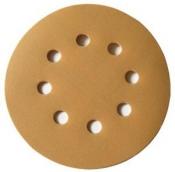 Круг абразивный SUNMIGHT GOLD VELCRO D125mm, 8 отверстий, P40