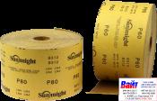 Абразивная бумага в рулонах SUNMIGHT GOLD (115мм x 50м), P60