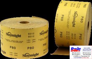 Купить Абразивная бумага в рулонах SUNMIGHT GOLD (115мм x 50м), P60 - Vait.ua