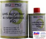 2К Акриловый грунт наполнитель UHS 4:1 Sotro Megamax F10 (800 мл) + отвердитель (200 мл), серый