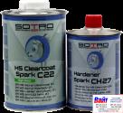 T032210, SOTRO, SOTRO HS Acryl Clearcoat Spark C22, Двухкомпонентный бесцветный акриловый лак с высоким содержанием сухого остатка(HS - High Solid), 1л. + быстрый отвердитель (T032706)
