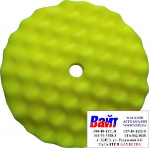 Купить Губка полировальная SOTRO профильная на липучке D210/H25 мм желтая - универсальная - Vait.ua
