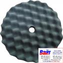 Губка полировальная SOTRO профильная на липучке D210/H25 мм черная - мягкая