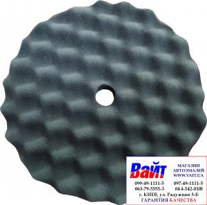 Купить Губка полировальная SOTRO профильная на липучке D210/H25 мм черная - мягкая - Vait.ua