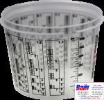 Т120023, SOTRO, Пластиковая мерная тара для смешивания красок и лаков с делениями 600 мл