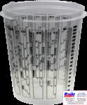 Т120025, SOTRO, Пластиковая мерная тара для смешивания красок и лаков с делениями 1900 мл