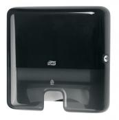 Tork 552108 Мини-диспенсер для листовых полотенец сложения Interfold. Черный
