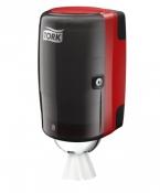 Tork 658008 Мини-диспенсер для полотенец с центральной вытяжкой. Красный-Черный