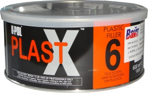 Купить Пластичная шпатлевка c повышенной адгезией для пластика U-Pol PLAST X®6, 0,6л - Vait.ua