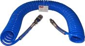 UBCS101515MBU B Пневмошланг спиральный полиуретановый армированный с переходниками SUMAKE 10мм х 15мм, длина 15м