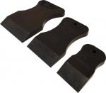 Набор резиновых шпателей из стойкой к агрессивным жидкостям резины, черный, мягкий
