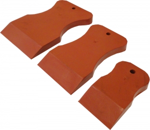 Купить  Набор резиновых шпателей из стойкой к агрессивным жидкостям резины, красный, твердый - Vait.ua