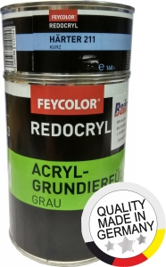 Купить Акриловый грунт Feycolor 5:1 (0,8л) + отвердитель (0,16л), серый - Vait.ua