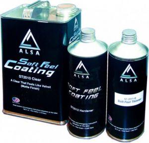 Купить Матовый лак ALSA SOFT FEEL (3,79л) в комплекте с отвердителем (1л) и растворителем (1л) - Vait.ua