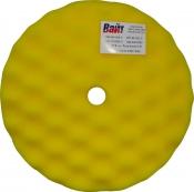 080502 Полировальная губка профилированная универсальная APP f210 на липучке, 210мм х 3,0см, желтая