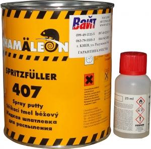 Купить Жидкая шпатлевка для нанесения методом распыления 407 Сhamaleon, 1л (с отвердителем) - Vait.ua