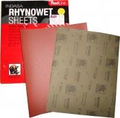 Водостойкий абразивный лист INDASA RHYNOWET RED LINE (Красная линия) 230мм х 280мм, Р60