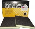 Двухсторонний абразивный блок INDASA Abrasive Sponge Wood, 98х122х13мм, Р60
