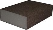 Четырехсторонний абразивный блок KAEF на среднем эластичном поролоне, серия 100, 98х69х26 мм, K60 (P150)