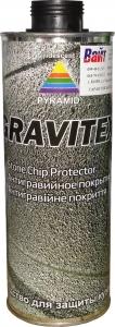 Купить Антигравийное текстурное покрытие PYRAMID GRAVITEX 1л, черное - Vait.ua