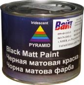 """Однокомпонентная эмаль PYRAMID Negromat """"Черная матовая"""" 0,5л"""