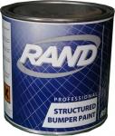 Краска структурная для бамперов однокомпонентная RAND, черная, 0,75л