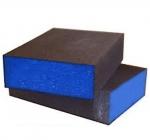 Абразивный блок 4-х сторонний SIA, 98x69x26мм K80 (P220 - 280)